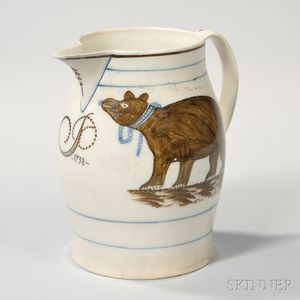Bear-decorated Pearlware Jug