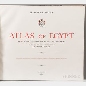 Egypt. Atlas of Egypt, a Series of Maps and Diagrams with Descriptive Text Illustrating the Orography, Geology, Meteorology, and Econom
