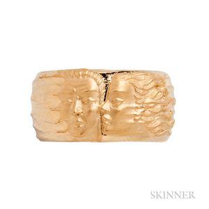 Carrera y Carrera 18kt Gold Figural Ring