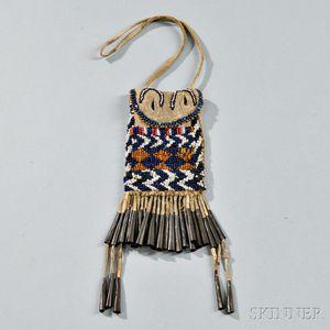Apache Beaded Hide Bag
