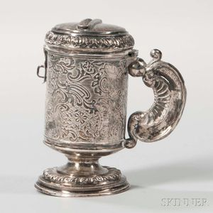 Silver Handled Charity Container