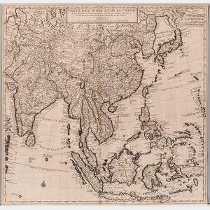 China. Guillaume Delisle (1675-1726) Carte des Indes et de la Chine.