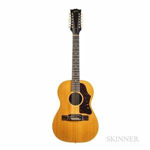 Gibson B-25-12 N Twelve-string Acoustic Guitar, c. 1963