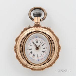 18kt Gold Lady's Open-face Watch