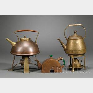 Three Arts & Crafts and Art Deco Tea Servers