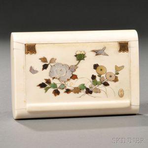 Inlaid Ivory Covered Box