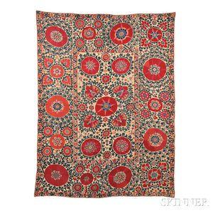 Sold for: $33,210 - Shakhrisabz Suzani