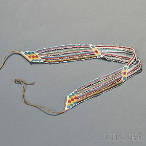 Potawatomi Side-stitched Beaded Choker