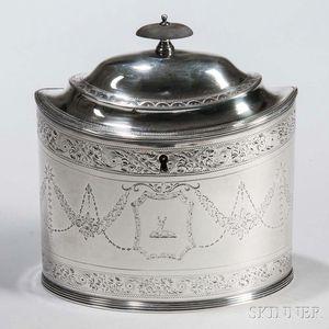 George III Sterling Silver Tea Caddy