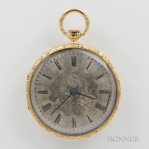 Universal Geneve Movement in Older 18kt Gold Open-face Case