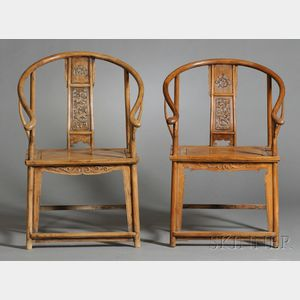 Two Armchairs with Rests