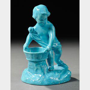 Wedgwood Turquoise-glazed Earthenware Figural Salt