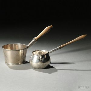 Two Georgian Sterling Silver Brandy Warmers