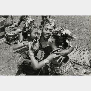 Henri Cartier-Bresson (French, 1908-2004)      The Alloeng Kotjok Dance in the Temple, Village of Sayan, Bali, Indonesia