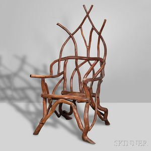 Adirondack Gothic-inspired Armchair