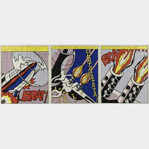Roy Lichtenstein (American, 1923-1997)      As I Opened Fire... / A Triptych