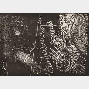 Pablo Picasso (Spanish, 1881-1973)      Peintre et modèle