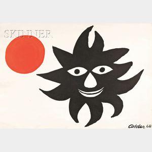Alexander Calder (American, 1898-1976)      Untitled (Black Sun)