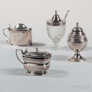 Four George III Sterling Silver Condiments
