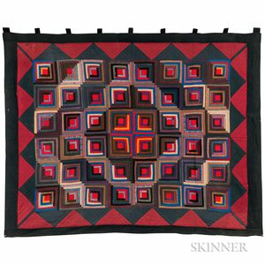 "Mennonite ""Log Cabin"" or ""Barn Raising"" Quilt"