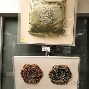 Three Framed Textiles