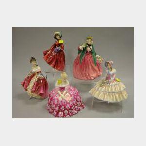 Five Royal Doulton Ceramic Figures