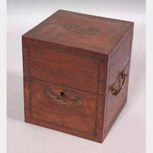 Mahogany Veneer Inlaid Box