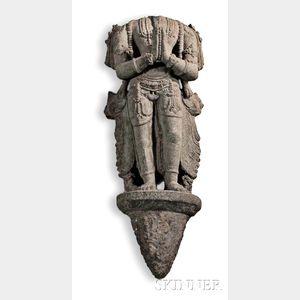 Buddhist Black Schist Sculpture