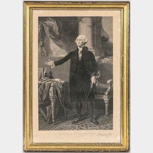 Framed I. Cary Print of George Washington