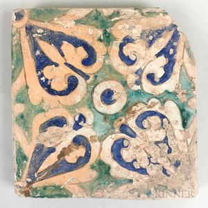 Green and Blue Glazed Tile