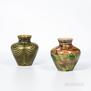 """Two Imperial Art Glass """"Lead Lustre"""" Vases"""