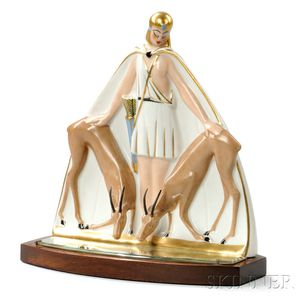 Art Deco Diana the Huntress Perfume Lamp