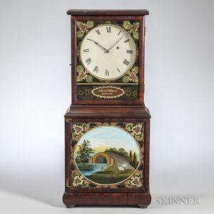 Aaron Willard Mahogany Dish Dial Shelf Clock