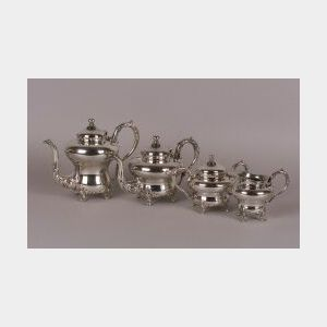 Four-Piece Silver Plated Hot Beverage Set