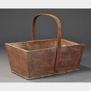 Shaker Brown-painted Wood Carrier