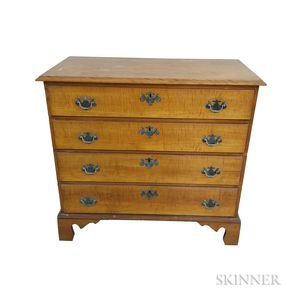 Chippendale-style Maple and Birch Chest of Drawers