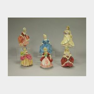 Six Royal Doulton Ceramic Figures