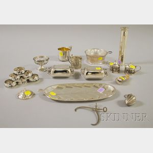 Group of Sterling and Silver Flatware Table, Flatware, and Serving Items