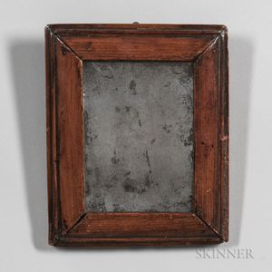 Small Early Mirror in a Molded Pine Frame