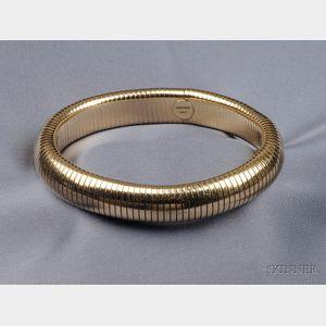 Retro 14kt Gold Tubogas Bracelet, Forstner