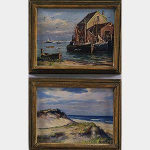 Laszlo De Nagy (Hungarian/American, 1906-1944)      Two Works: Dunes
