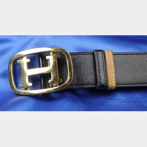 Box Leather Belt, Hermes
