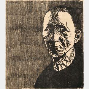 Leonard Baskin (American, 1922-2000)      Three Portraits:  Bertolt Brecht