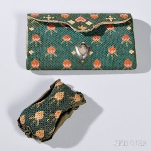 Needlework Pocketbook and Pincushion
