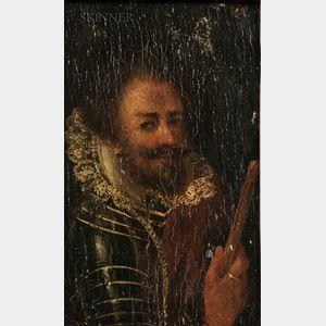 Dutch School, 18th Century    Portrait of a Dutch or Spanish Gentleman in Armor
