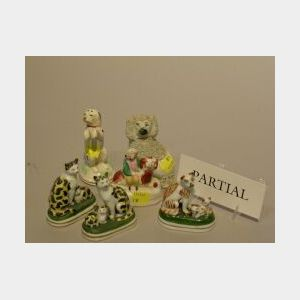 Group of Fourteen Staffordshire Animals and Figures.