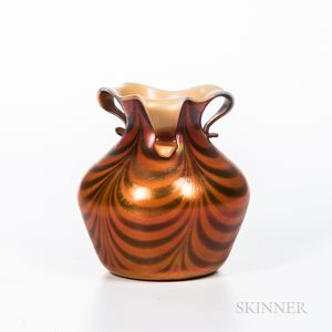 "Imperial Art Glass ""Free Hand"" Iridescent Vase"