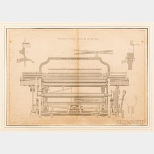 Two Lithographs Depicting British Industrial Looms