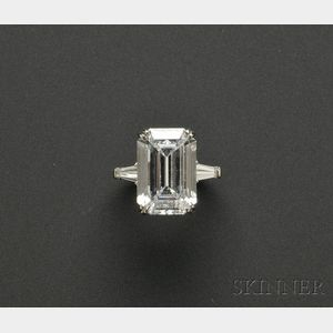Sold for: $319,500 - Platinum and Diamond Solitaire