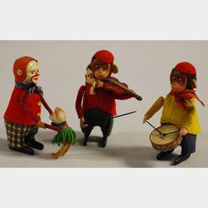 Three Schuco Wind-up Toys